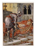 Sir Lancelot in Chapel Perilous, from 'Stories of Knights of Round Table' by Henry Gilbert Giclee Print by Walter Crane