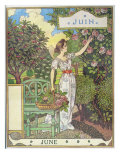 June Giclee Print by Eugene Grasset