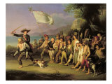 Playing at Soldiers, Roman Revolution 1848 Giclee Print by J. Kirner