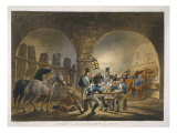 Piquet of Saxon Dragoons in Old Castle, from 'Military Evolutions' Giclee Print by Conrad Gessner
