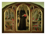 The Blessed Agostino Novello Altarpiece, with four of his miracles, c.1328 Giclee Print by Simone Martini