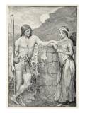 Olaf and Sigrid, from 'Hero Myths and Legends of the British Race' by M.I. Ebbutt, 1910 Giclee Print by John Henry Frederick Bacon