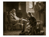 The Venerable Bede Translating the Gospel, Illustration from 'Hutchinson's Story of British Nation' Giclee Print by James Doyle Penrose