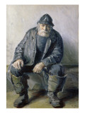 Skagen Fisherman Reproduction proc&#233;d&#233; gicl&#233;e par Michael Peter Ancher