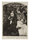 George Macdonald and His Daughter Lily, 14th October 1863 Giclee Print by Charles Lutwidge Dodgson