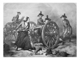 Molly Pitcher at the Battle of Monmouth, 28 June 1778 Giclee Print