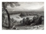 The Thames from Richmond Hill, engraved by J. Saddler, printed by Cassell, Petter and Galvin Giclee Print by Myles Birket Foster