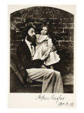 Arthur Hughes and His Daughter Agnes, 12th October 1863 Giclee Print by Charles Lutwidge Dodgson