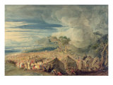 Moses Dividing the Waters of the Red Sea Giclee Print by John Martin