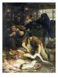 The Fish Market in the Morning, 1880 Giclee Print by Victor Gabriel Gilbert