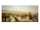 "A Day at Boulogne, 1870 Giclee Print by Matthew ""matt"" Somerville Morgan"