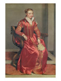 Portrait of a Lady, c.1555-60 Giclee Print by Giovanni Battista Moroni