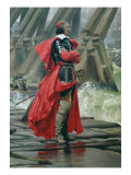 Cardinal Richelieu on the Sea Wall at La Rochelle, 1881 Giclee Print by Henri-Paul Motte