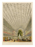 Transept of the Crystal Palace, pub. by Day and Son and Ackermann and Co. Giclee Print by George Hawkins