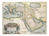 Map of the Middle East, from Theatrvm Orbis Terrarvm, 1570 Giclee Print by Abraham Ortelius