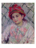 Portrait of Blanche Hoschede Giclee Print by Claude Monet