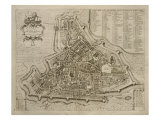 Map of Padua, from 'Les Villes De Venetie', 1704, Published by Pierre Mortier in Amsterdam Giclee Print by Pierre Mortier