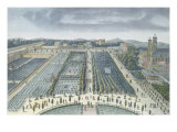 General View of Luxembourg Gardens in Paris, 1810, engraved by J.B. Chapuis Giclee Print by Angelo Garbizza