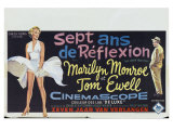 The Seven Year Itch, Belgian Movie Poster, 1955 Giclee Print