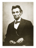 Abraham Lincoln, 1865 Gicle-tryk af Alexander Gardner