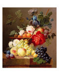 Still Life with Fruit and Flowers Giclee Print by Anthony Obermann