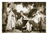 Virgil, Horace and Varius at the House of Maecenas Giclee Print by Charles Francois Jalabert