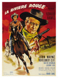 Red River, French Movie Poster, 1948 - Giclee Baskı