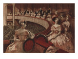 At the Theatre, 'Echos Du Bon Ton', Illustration 'La Francaise Du Siecle: Modes, Moeurs, Usages' Giclee Print by Albert Lynch
