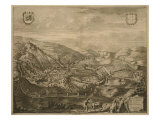 Map of Serravalle, from 'Les Villes De Venetie', 1704, Published by Pierre Mortier in Amsterdam Giclee Print by Pierre Mortier