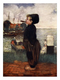 A Boy Smoking, Volendam, 1904 Giclee Print by Nico Jungman