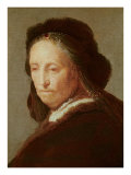 Portrait of an old Woman, c.1600-1700 Giclee Print by  Rembrandt van Rijn