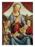 The Virgin and Child with Two Angels, c.1470's Gicle-tryk af Andrea del Verrocchio