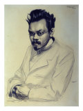 Portrait of Alexei M. Remizov, 1907 Giclee Print by Boris Kustodiyev