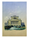 The Alexander Theatre in St. Petersburg, 1841 Giclee Print by Vasili Semenovich Sadovnikov