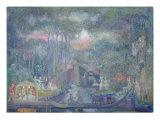 Marquise Walking to the Love Isle Giclee Print by Sergei Yurevich Sudeikin