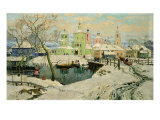 The Small Village Torzhok, 1917 Giclee Print by Konstantin Ivanovich Gorbatov