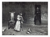Appearance of Countess of Derby in Golden room, scene from Scott&#39;s &#39;Peveril of Peak&#39; Giclee Print by John Pettie