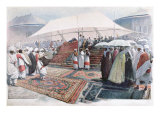 Easter Celebrations in Addis Ababa Giclee Print by Louis Remy Sabattier