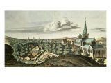 Prospect of the Town of Glasgow from the North East Giclee Print by John Slezer