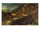 The Procession of the Holy Shroud Giclée-tryk af Alessandro Magnasco