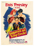 King Creole, French Movie Poster, 1958 Print