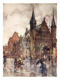 The Binnenhof, the Hague, 1904 Giclee Print by Nico Jungman
