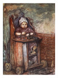 Baby in Chair, 1904 Giclee Print by Nico Jungman