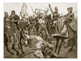 Battle of Poitiers, 19th September 1356, Illustration 'Hutchinson's Story of British Nation' Giclee Print by Richard Caton Woodville