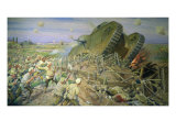 The Capturing of a Tank near Kakhovka, 1927 Gicl&#233;e-Druck von Ivan Alexeyevich Vladimirov