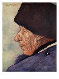 A Man's Head, Volendam, 1904 Giclee Print by Nico Jungman