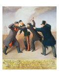 Assassination Attempt on Emperor Franz Joseph I of Austria Giclee Print by Joseph Reiner