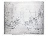Edward's Ward, St. Thomas's Hospital, London, 1843 Giclee Print by George The Elder Scharf