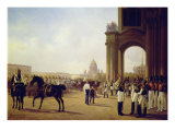 Parade at the Palace Square in St. Peterburg Giclee Print by Adolphe Ladurner