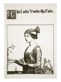 The Lady Yvette the Fair, Illustration from 'The Story of the Champions of the Round Table' Giclee Print by Howard Pyle
